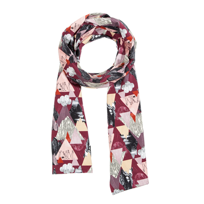 HuiGee Moomin women's long scarf Mountains, fuchsia