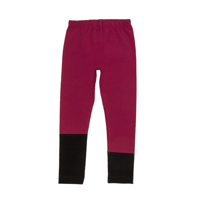 HuiGee children's leggings Sand, fuchsia/black