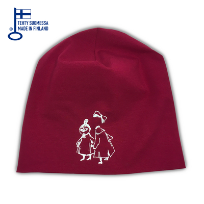HuiGee reflective beanie Little My&Ninny, fuchsia/grey 2 sizes