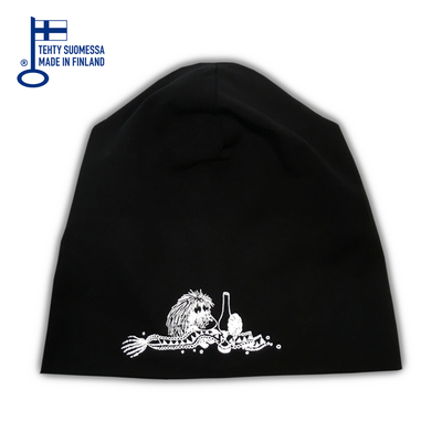 HuiGee reflector beanie Ancestor, black/grey 2 sizes