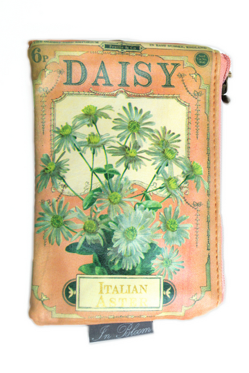 """In Bloom """"Daisy"""" Seed Makeup Bag / Large Purse"""