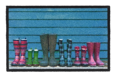 Inspiration boots doormat, blue, 50x75cm