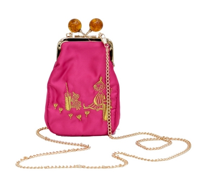 Ivana Helsinki Moomin Mymble purse bag, small fuchsia