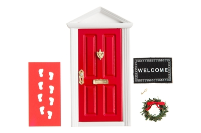 Kapelhoppy elf door set, 5-parts, red