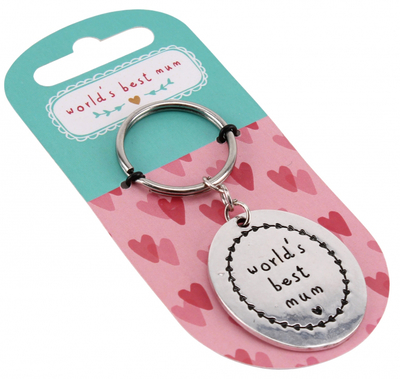 "Keychain ""World's best Mum"""