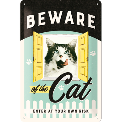 Kilpi 20x30 Beware of the Cat