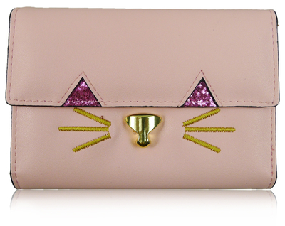 Kitty wallet, pink