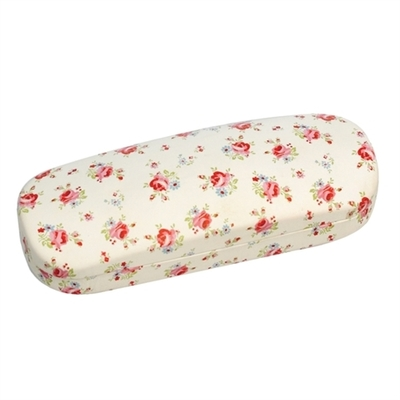 La Petite Rose glasses case with a cleaning cloth