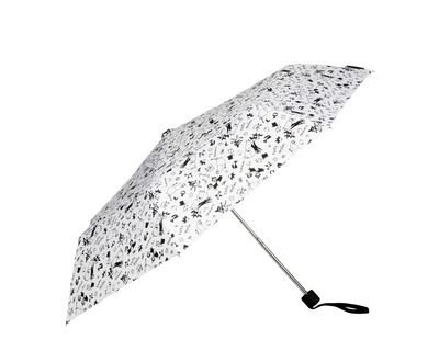 Lasessor Moomin umbrella Garden, black/white