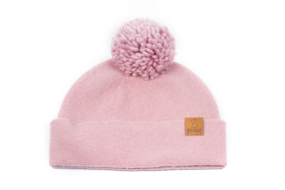 Lasessor Moomin wool hat beanie Bobble, rose