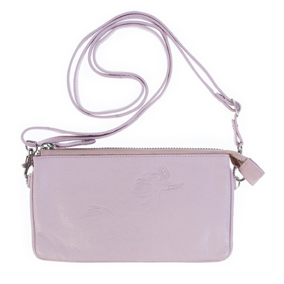 Lasessor Primadonna leather shoulder bag/clutch bag, rose