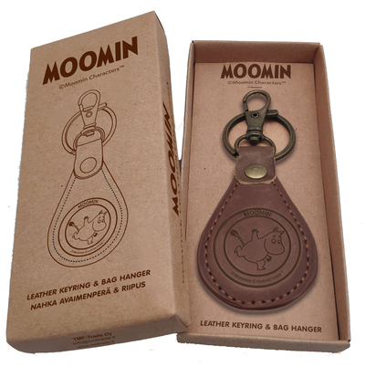 Leather Moomin keyring, Moomintroll