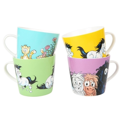 Lena Furberg Bandit the Pony -mugs, 4 different types