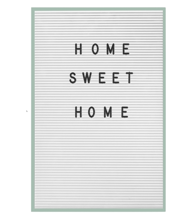 Letter board, write your own text, green