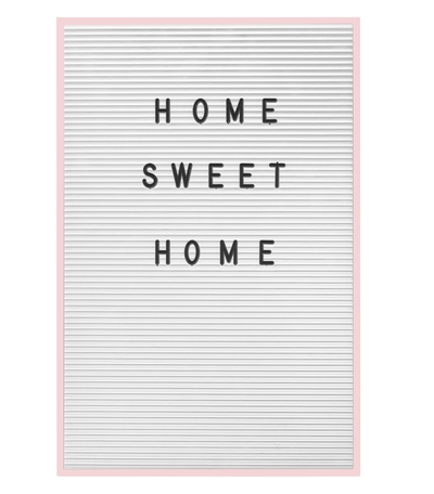 Letter board, write your own text, light pink