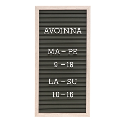 Letter board, write your own thing, brown