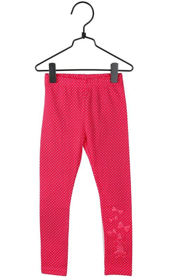 Little My dots leggings, red