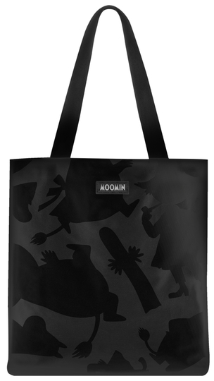 MOZO Moomin big shopper bag, Shadows, black