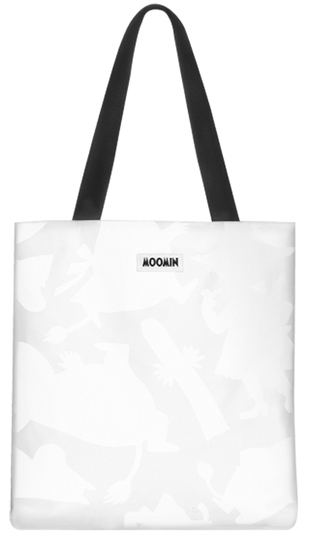 MOZO Moomin big shopper bag, Shadows, white