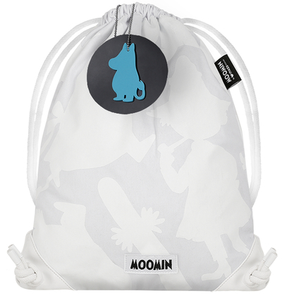 MOZO Moomin drawstring backpack, Shadows, white