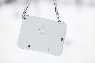 MOZO Moomin leather shoulder bag, Icon, white