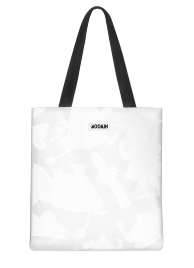 MOZO Moomin little shopper bag, Shadows, white