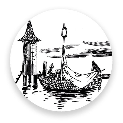 Magnet Moomin - Swimming hut and boat