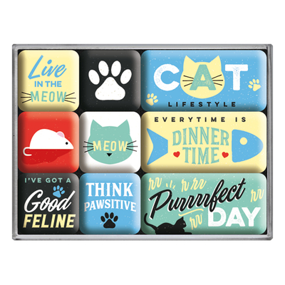 Magnet set Cat Lifestyle, 9 pcs