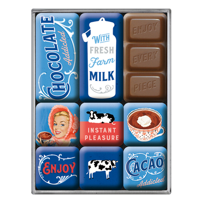 Magnet set Chocolate Addicted, 9 pcs