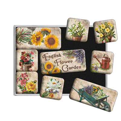 Magnet set English Flower Garden