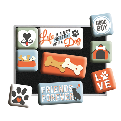 Magnet set Life is always better with a Dog