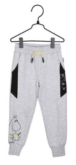 Martinex Moomin children's trousers with text, grey