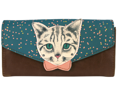 Meow wallet, dark-coloured