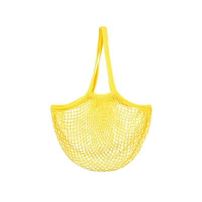 Mesh shopping bag, yellow