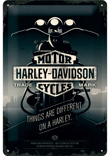 Metallikilpi Harley-Davidson Things are different... 20x30cm