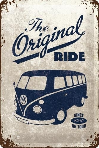 Metallikilpi VW Bulli The Original Ride 20 x 30cm
