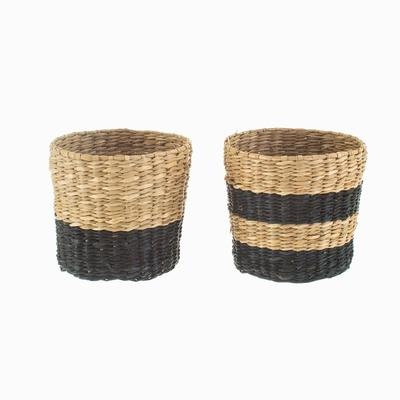 Mini decor basket 2-set, striped