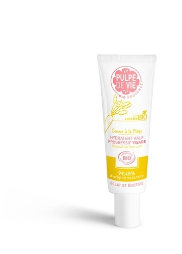 Moisturizing gradual tan face care Feel on the Beach, 40ml
