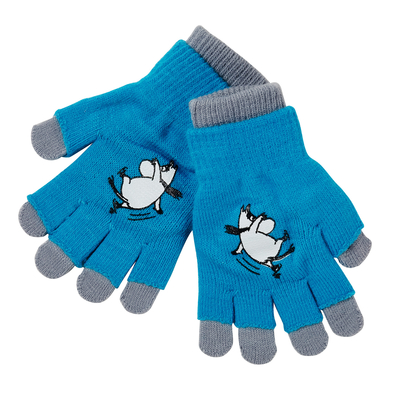 Moominstretch gloves for a 2-5 year old, turquoise