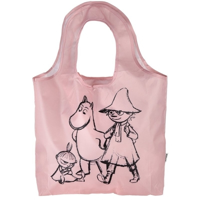 "Moomin ""Kampsu"" shopper Sketch, light pink"