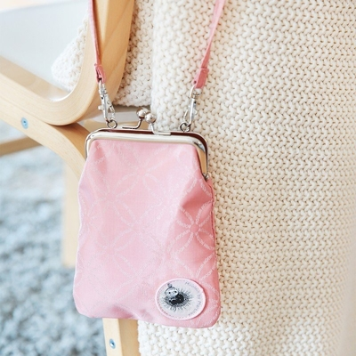 "Moomin ""Vinssi"" purse bag Moomin logo, light pink"