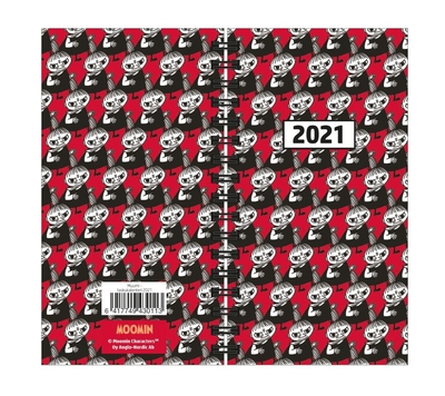 Moomin 2021 pocket calendar spiral, Pop Art Little My