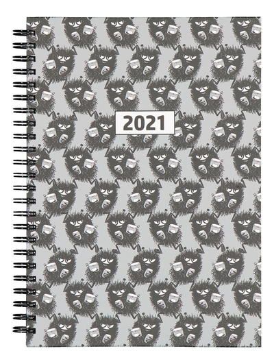 Moomin 2021 year calendar spiral, Pop Art Stinky