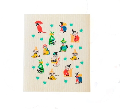 Moomin 50´s pattern dishcloth