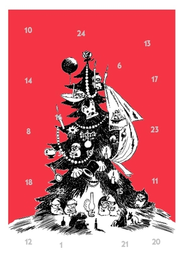 Moomin Advent calendar greeting card, Moomin Christmas