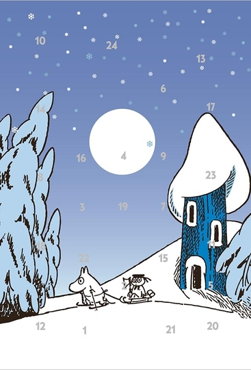 Moomin Advent calendar greeting card, Moominhouse