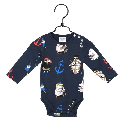 Moomin Anchor body suit, blue