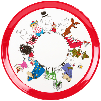Moomin Characters round serving platter, Ø 36 cm
