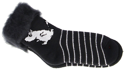 Moomin Children's fluffy socks, running Moomin