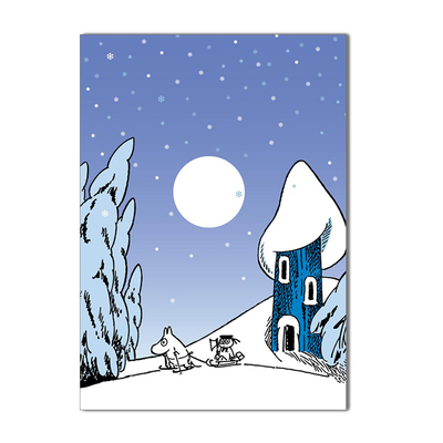Moomin Christmas card 1-part, Snowy Moominvalley